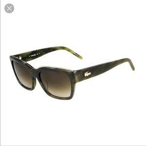 Lacoste L635S Sunglasses Green Rectangular